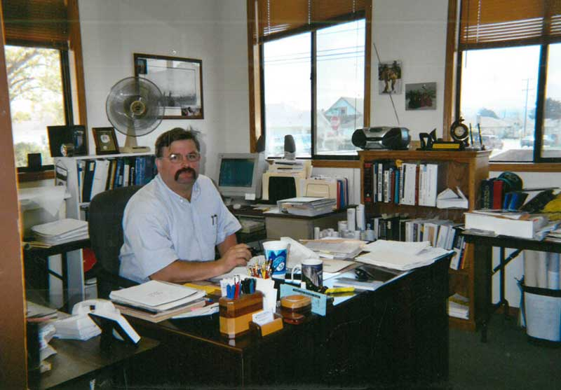 Leonard in his office